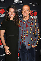 LOS ANGELES - OCT 20:  Evangeline Lilly, Scott Fifer at the GO Campaign Gala at the City Market Social House on October 20, 2018 in Los Angeles, CA