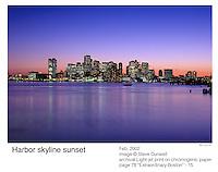 Boston harbor sunset, MA