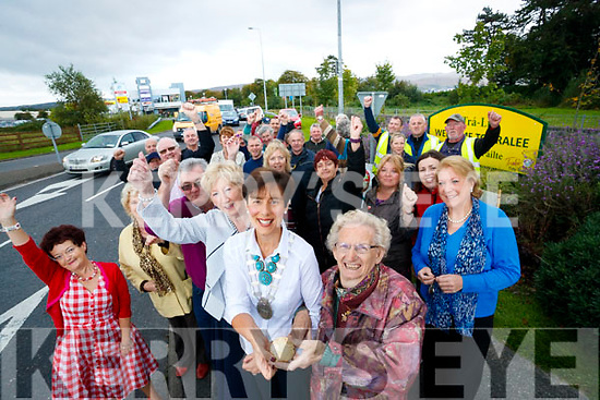 Mayor of tralee Norma Foley and Mary O'Brien with the Tralee Tidy Towns committee  celebrating their Sixth consecutive gold meal win at the Tidy Town Awards.