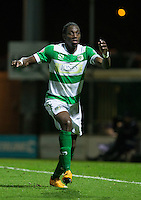 MOTM Nathan Smith of Yeovil Town during the Sky Bet League 2 match between Yeovil Town and Wycombe Wanderers at Huish Park, Yeovil, England on 24 November 2015. Photo by Andy Rowland.