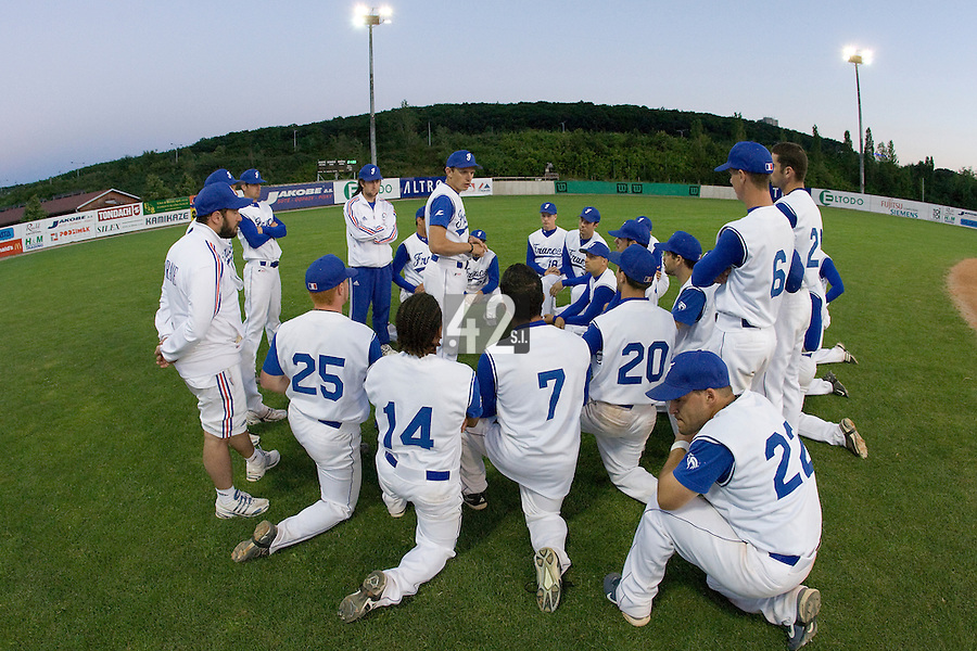 BASEBALL - GREEN ROLLER PARK - PRAGUE (CZECH REPUBLIC) - 28/06/2008 - PHOTO: CHRISTOPHE ELISE.TEAM FRANCE AFTER GAME
