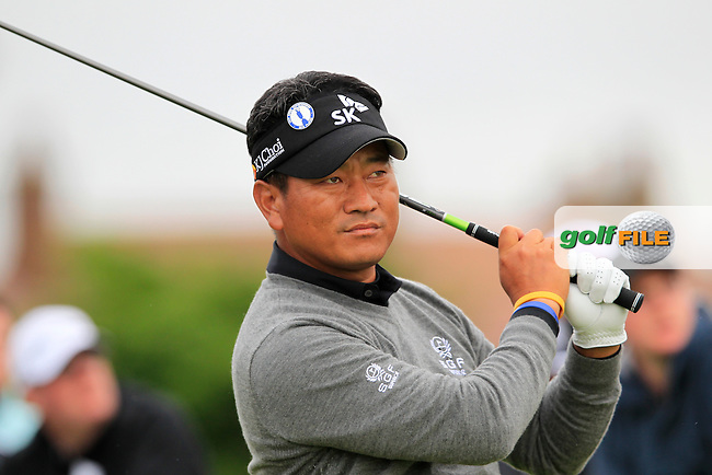K.J.Choi (KOR) tees off the 18th tee during Thursday's Round 1 of the 141st Open Championship at Royal Lytham & St.Annes, England 19th July 2012 (Photo Eoin Clarke/www.golffile.ie)