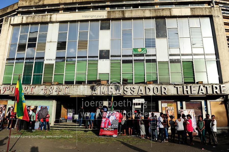 ETHIOPIA, Addis Ababa, city centre, Ambassador cinema / AETHIOPIEN, Addis Abeba, Stadtzentrum, Ambassador Kino