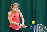 Wateringen, The Netherlands, March 16, 2018,  De Rhijenhof , NOJK 14/18 years, Nat. Junior Tennis Champ. Isis Van Den Broek (NED)<br /> Photo: www.tennisimages.com/Henk Koster