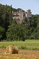 Europe/France/Midi-Pyrénées/46/Lot/Cénevières:la vallée du Lot et le Château de Cénevières