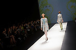 """October 18, 2012, Tokyo, Japan - Models walk down the catwalk wearing """"SOMARTA"""" during the Mercedes-Benz Fashion Week Tokyo 2013 Spring/Summer. Fashion week in Tokyo runs from October 13-20. (Photo by Christopher Jue/Nippon News)"""