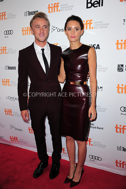 WWW.ACEPIXS.COM<br /> <br /> September 7 2013, Toronto<br /> <br /> Tom Felton and Jade Olivia arriving at the 'Therese' premiere during the 2013 Toronto International Film Festival at Isabel Bader Theatre on September 7, 2013 in Toronto, Canada.<br /> <br /> <br /> <br /> By Line: William Bernard/ACE Pictures<br /> <br /> <br /> ACE Pictures, Inc.<br /> tel: 646 769 0430<br /> Email: info@acepixs.com<br /> www.acepixs.com