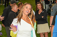 Brooks Koepka's (USA) girlfriend Jena Sims is all smiles after Brooks won the 2019 PGA Championship, Bethpage Black Golf Course, New York, New York,  USA. 5/19/2019.<br /> Picture: Golffile | Ken Murray<br /> <br /> <br /> All photo usage must carry mandatory copyright credit (© Golffile | Ken Murray)
