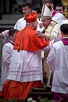 cardinal, bishop of Dallas, Kevin Joseph Farrell,Pope Francis, during a consistory at Peter's basilica. Pope Francis has named 17 new cardinals, on November 19, 2016