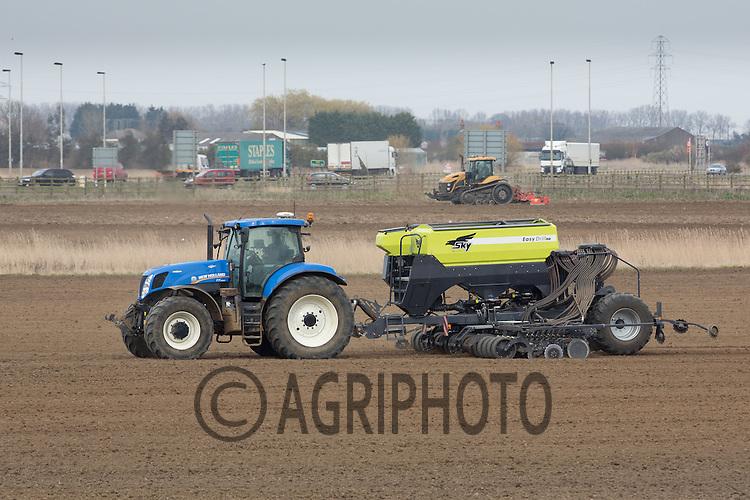 Drilling spring cereals close to the urban fringe <br /> Picture Tim Scrivener 07850 303986 <br /> scrivphoto@btinternet.com<br /> &hellip;.covering agriculture in the UK&hellip;.