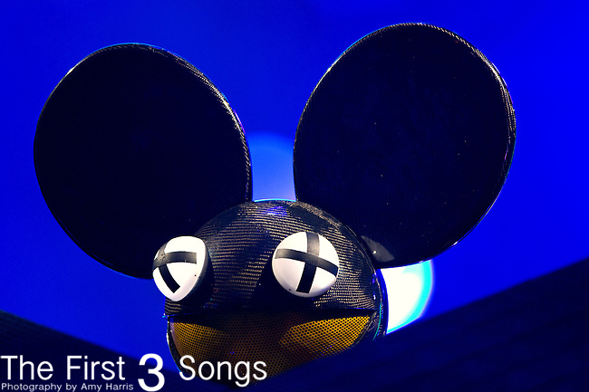 Deadmau5 (born Joel Zimmerman) performs during the 2013 Budweiser Made in America Festival in Philadelphia, Pennsylvania.