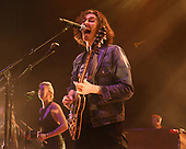 MIAMI BEACH, FL - MARCH 19: Andrew Hozier-Byrne, known professionally as Hozier performs at the Fillmore on March 19, 2019 in Miami Beach, Florida. Credit Larry Marano © 2019