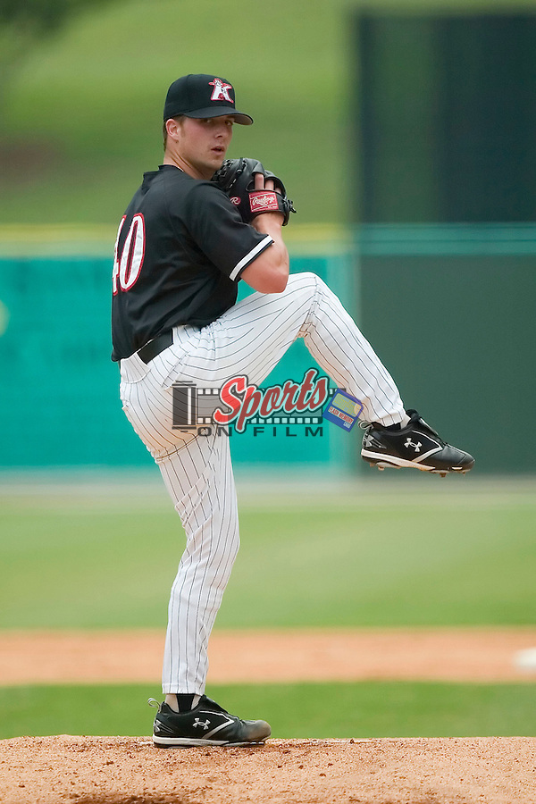 Kannapolis starting pitcher Justin Edwards (40) in action versus Hickory at Fieldcrest Canon Stadium in Kannapolis, NC, Wednesday, June 27, 2007.