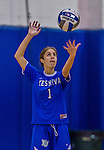 2 November 2014: Yeshiva University Maccabee Defensive Specialist Carol Jacobson, a Senior from Seattle, WA, in action against the Sarah Lawrence Gryphons at SUNY Purchase College, in Purchase, NY. The Maccabees defeated the Gryphons 3-2 in the NCAA Division III Women's Volleyball Skyline matchup. Jacobson ended her 2014 season with 69 Digs and 12 Aces for the Lady Macs. Mandatory Credit: Ed Wolfstein Photo *** RAW (NEF) Image File Available ***