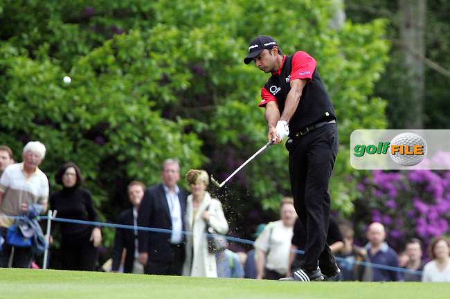 Jyoti Randhawa on the 17th hole in the final round of the BMW PGA Championship at the Wentworth Club, Surrey, England - 25th May 2008 (Photo by Manus O'Reilly/GOLFFILE)
