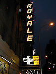 The Elephant Man.Royale Theatre Marquee.Starring BILLY CRUDU, KATE BURTON.and RUPERT GRAVES.Credit All Uses..© Walter McBride /  , USA.