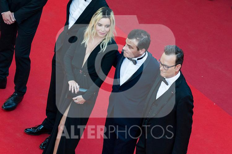 70eme Festival International du Film de Cannes. Montee de la ceremonie de cloture, vues du toit du Palais . 70th International Cannes Film Festival. Vew from rof top of closing red carpet<br /> <br /> <br /> <br /> <br />  Bouchez, Elodie