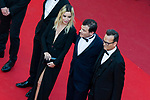 70eme Festival International du Film de Cannes. Montee de la ceremonie de cloture, vues du toit du Palais . 70th International Cannes Film Festival. Vew from rof top of closing red carpet<br /> <br /> <br /> <br /> <br />  Bouchez, Elodie