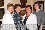 MEETING: Patricia Walsh and Marie Kennelly (Moyvane), Eva Conway (Killorglin) and Joan O'Sullivan (Castleisland) meeting up at the Feale Rangers Ball in The Listowel Arms Hotel on Friday night.   Copyright Kerry's Eye 2008