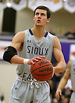 SIOUX FALLS, SD - JANUARY 2:  Mack Johnson #3 from the University of Sioux Falls shoots a free throw against Augustana in the first half of their game Friday night at the Stewart Center. (Photo by Dave Eggen/Inertia)