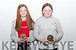 18Glenbeigh Basketball Medal Presentation Most Improved Players U13 & U12<br /> L-R Grace O'Sullivan U14 Mary Kate Smith U12