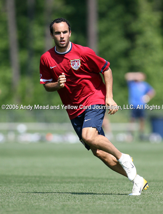 Landon Donovan on Wednesday, May 17th, 2006 at SAS Soccer Park in Cary, North Carolina. The United States Men's National Soccer Team held a training session as part of their preparations for the upcoming 2006 FIFA World Cup Finals being held in Germany.