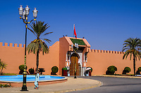 Morocco. Outside the gate of the presidential palace in Marrakesh.