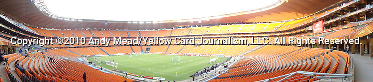 10 JUN 2010: Interior panning shot of Soccer City Stadium. The Mexico National Team held a light practice at Soccer City Stadium in Johannesburg, South Africa the day before playing South Africa in the opening match of the 2010 FIFA World Cup.