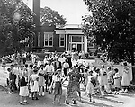 Dismissal from South School in Oakville, 1935