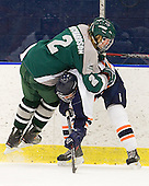 JC Richardson (Plymouth State - 2), Derek Crocker (Salem State - 24) - The visiting Plymouth State University Panthers defeated the Salem State University Vikings 3-2 on Thursday, December 1, 2011, at Rockett Arena in Salem, Massachusetts.