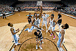 GLENDALE, AZ - APRIL 03: Isaiah Hicks #4 of the North Carolina Tar Heels shoots the ball during the 2017 NCAA Men's Final Four National Championship game against the Gonzaga Bulldogs at University of Phoenix Stadium on April 3, 2017 in Glendale, Arizona.  (Photo by Chris Steppig/NCAA Photos via Getty Images)