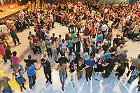 A sSaint-Brieuc, les fest-noz comptent couramment plus de 1000 danseurs.Rond de Saint-Vincent