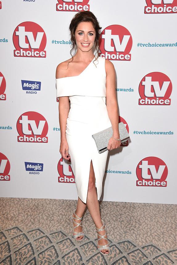 Julia Goulding<br /> arriving for the TV Choice Awards 2017 at The Dorchester Hotel, London. <br /> <br /> <br /> ©Ash Knotek  D3303  04/09/2017