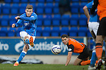 St Johnstone v Dundee United...27.12.14   SPFL<br /> David Wotherspoon takes a shot at goal<br /> Picture by Graeme Hart.<br /> Copyright Perthshire Picture Agency<br /> Tel: 01738 623350  Mobile: 07990 594431