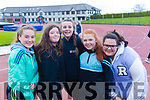 Killorglin Community College students, l-r: Marie Galvin, Grace Joy, Rebecca Murphy, Caoimhe Brosnan and Jasmine Balogh, pictured at the Kerry ETB Athletics event at An Riocht, Castleisland on Friday last.