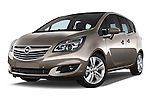 Stock pictures of low aggressive front three quarter view of2014 Opel MERIVA Cosmo 5 Door Mini MPV 2WD Low Aggressive