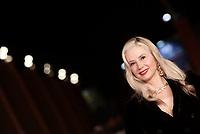 L'attrice statunitense Mira Sorvino posa durante il red carpet per la presentazione del film ''Drowning' i' alla 14^ Festa del Cinema di Roma all'Aufditorium Parco della Musica di Roma, 20 ottobre 2019.<br /> US actress Mira Sorvino poses on the red carpet to present the movie ''Drowning' during the 14^ Rome Film Fest at Rome's Auditorium, on 20 October 2019.<br /> UPDATE IMAGES PRESS/Isabella Bonotto