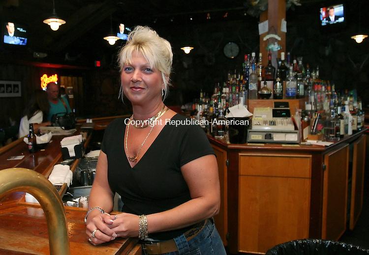 WOLCOTT,  CT 08 August 2005 -080805BZ04- Paula Elderkin, bartender at the Lily Lake Inn in Wolcott.<br /> Jamison C. Bazinet Photo