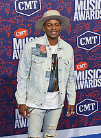 NASHVILLE, TENNESSEE - JUNE 05: Jimmie Allen attends the 2019 CMT Music Awards at Bridgestone Arena on June 05, 2019 in Nashville, Tennessee. <br /> CAP/MPI/IS/NC<br /> ©NC/IS/MPI/Capital Pictures
