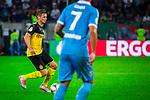 09.08.2019, Merkur Spiel-Arena, Düsseldorf, GER, DFB Pokal, 1. Hauptrunde, KFC Uerdingen vs Borussia Dortmund , DFB REGULATIONS PROHIBIT ANY USE OF PHOTOGRAPHS AS IMAGE SEQUENCES AND/OR QUASI-VIDEO<br /> <br /> im Bild | picture shows:<br /> Lukasz Piszczek (Borussia Dortmund #26) am Ball, <br /> <br /> Foto © nordphoto / Rauch