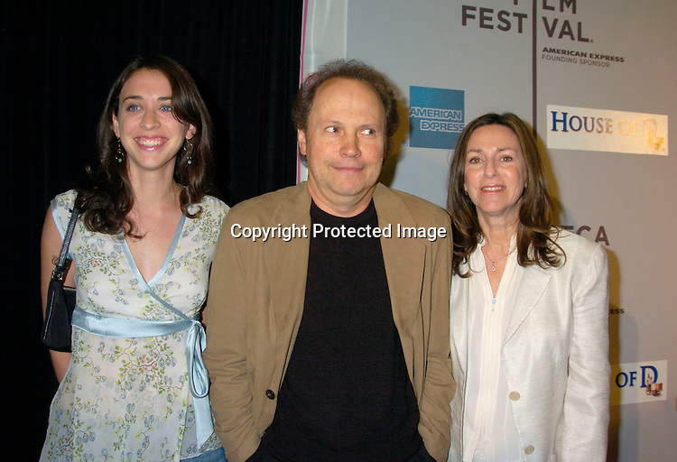 "Lindsay, Billy and Janice Crystal ..at the ""House of D"" movie screening at the Tribeca Film Festival on May 7, 2004 in New YOrk City. ..Photo by Robin Platzer, Twin Images"