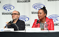 "ANAHEIM, CA - MARCH 31: (L-R) Cast members H. Jon Benjamin and Aisha Tyler of FX's ""Archer"" attend WonderCon 2019 at the Anaheim Convention Center on March 31, 2019 in Anaheim, California. (Photo by Frank Micelotta/FX/PictureGroup)"