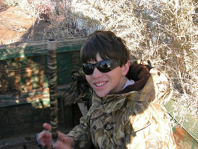 Young hunter on a Duck Hunt