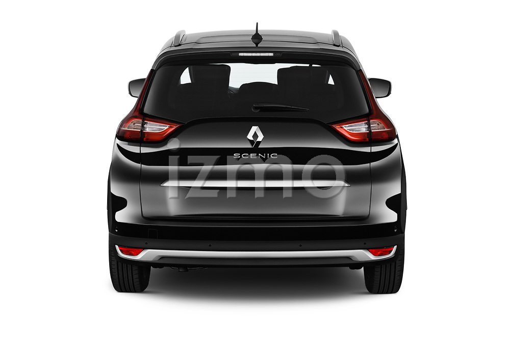 Straight rear view of a 2018 Renault Grand Scenic initiale paris 5 Door Mini Van stock images
