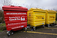 Recycle bins, Burford, Oxfordshire, United Kingdom