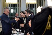 Roma, 19 Novembre 2015<br /> Paolo Ielo e Ippolita Naso avvocata di Massimo Carminati<br /> Aula bunker di Rebibbia<br /> Terza udienza del processo Mafia Capitale, Roma Capitale, avvocati,