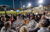Director of Athletics Jaime Hoffman. Alumni, family, staff and students at the Occidental College Athletics Hall of Fame event, part of Homecoming weekend, Oct. 24, 2014 on Patterson Field. (Photo by Marc Campos, Occidental College Photographer)