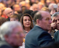 February 7, 2019 - Washington, DC, United States: Speaker of the United States House of Representatives Nancy Pelosi (Democrat of California) attends the 2019 National Prayer Breakfast at the Washington Hilton Hotel in Washington, DC on Thursday, February 7, 2019. Photo Credit: Chris Kleponis/CNP/AdMedia