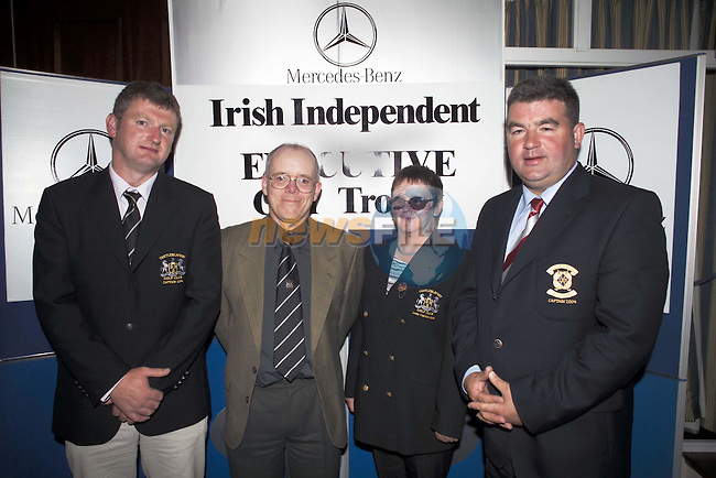 3rd place team Castleblaney L-R Adrian Kelly (Captain), Adrian Sewell (Treasurer), Josephine McCahey (Lady Captain) & Cathal Brady (Captain Slieve Russell)..Slieve Russell Golf Club.Photo NEWSFILE/Eoin Clarke..(Photo credit should read Eoin Clarke/NEWSFILE)...This Picture has been sent you under the condtions enclosed by:.Newsfile Ltd..the Studio,.Millmount Abbey,.Drogheda,.Co Meath..Ireland..Tel: +353(0)41-9871240.Fax: +353(0)41-9871260.GSM: +353(0)86-2500958.email: pictures@newsfile.ie.www.newsfile.ie.FTP: 193.120.102.198..This picture is from Fran Caffrey@newsfile.ie