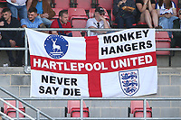 Hartlepool United Monkey Hangers flag during Dagenham & Redbridge vs Hartlepool United, Vanarama National League Football at the Chigwell Construction Stadium on 14th September 2019